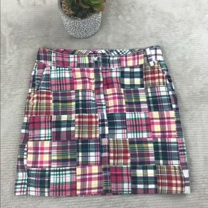 Tommy Hilfiger Patchwork Plaid Mini Casual Skirt